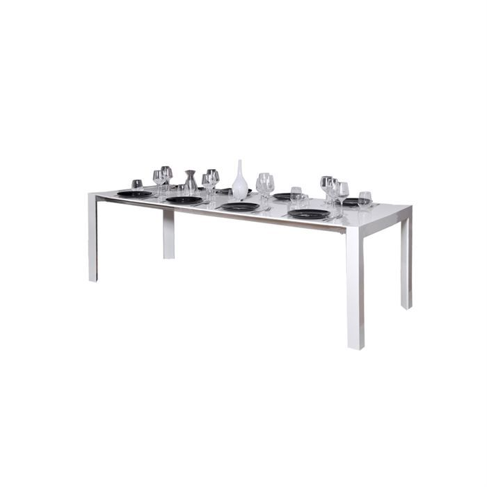 Table Extensible Laqu E Blanche Achat Vente Table