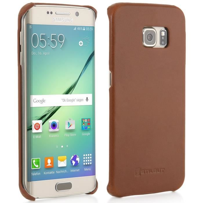 coque galaxy s6 edge cuir