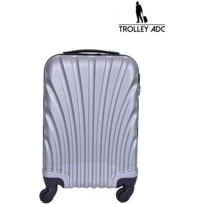 VALISE - BAGAGE Valise grise quatre roues - Trolley ADC