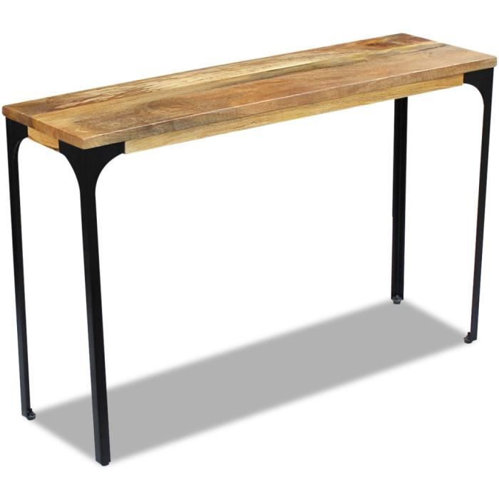 Vidaxl table console bois de manguier 120 x 35 76 cm for Meuble en bois de manguier