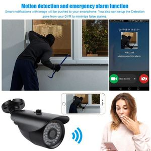CAMÉRA DE SURVEILLANCE Kit caméra de surveillance sans fil extérieur 8CH