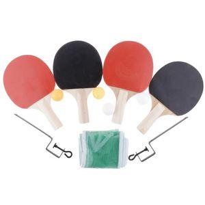 RAQUETTE TENNIS DE T. 4pcs raquette de ping-pong de tennis de table + 4