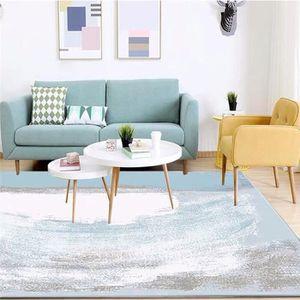Tapis de salon style scandinave bleu