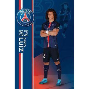 AFFICHE - POSTER Affiche du footballeur David Luiz PSG (Dimensions