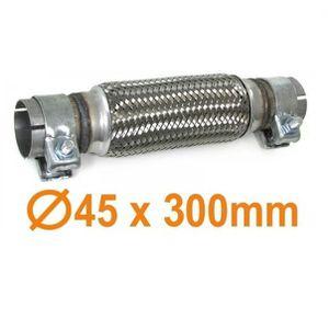 """D/'échappement clamp-on flexi tuyau 300mm x 45mm 1 3//4/"""" d/'échappement flexi réparation section"""