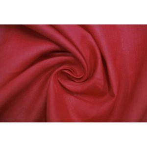 TISSU Tissu Lin Uni Rouge 100% Coupon de 3 mètres