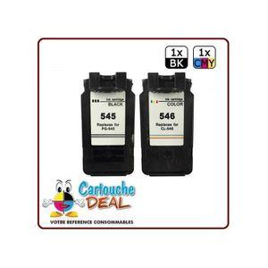 CARTOUCHE IMPRIMANTE CANON PG-545 XL / CL-546 XL : Lot 2 cartouches com