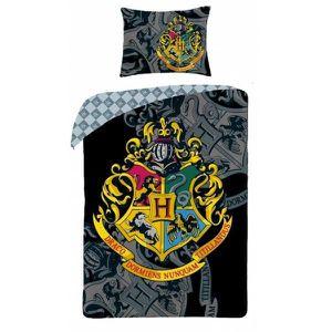 HOUSSE DE COUETTE ET TAIES Harry Potter Logo - Parure de Lit Enfant - Housse