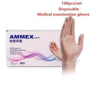 100PCS Gants Jetables Gants Latex Gants Chirurgicaux M/édical Transparants