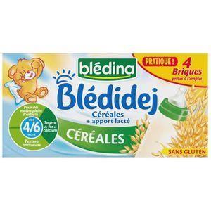 LAIT BÉBÉ BLEDINA Blédidej Briques de céréales au lait de su