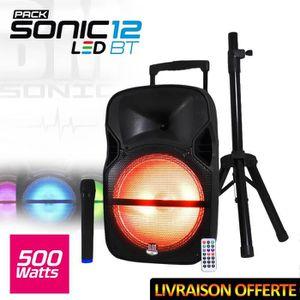 PACK SONO Enceinte sono mobile LED 500W 12