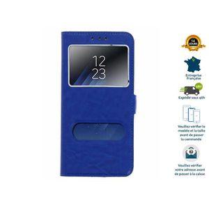 HOUSSE - ÉTUI Case® Folio protection Pour Huawei P20 Lite double