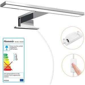 Luminaire miroir salle de bain avec interrupteur
