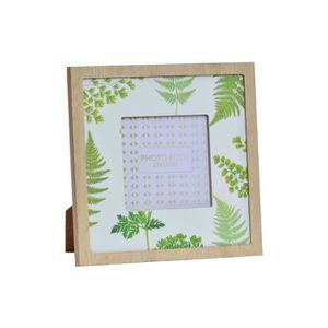 CADRE PHOTO Cadre photo Tropical en bois - 18 x 18 cm - Dimens