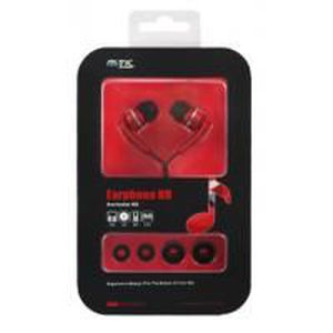 CASQUE - ÉCOUTEURS Ecouteurs Soft Ergonomiques Rouges Spécial MP3