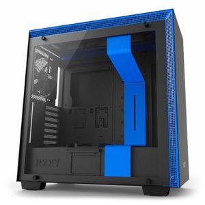 BOITIER PC  NZXT Boîtier PC H700 Noir/Bleu (CA-H700B-BL) - Mid
