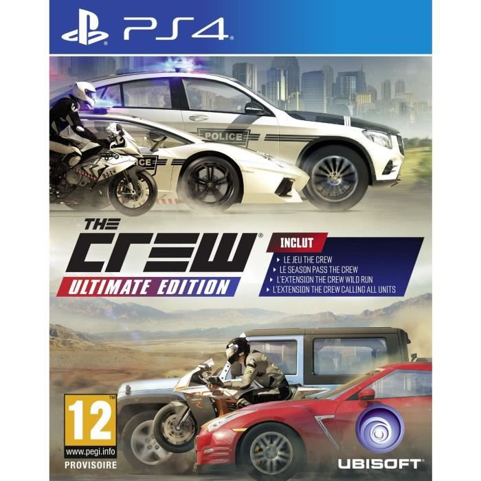 the crew ultimate jeu ps4 achat vente jeu ps4 the crew ultimate jeu ps4 cdiscount. Black Bedroom Furniture Sets. Home Design Ideas