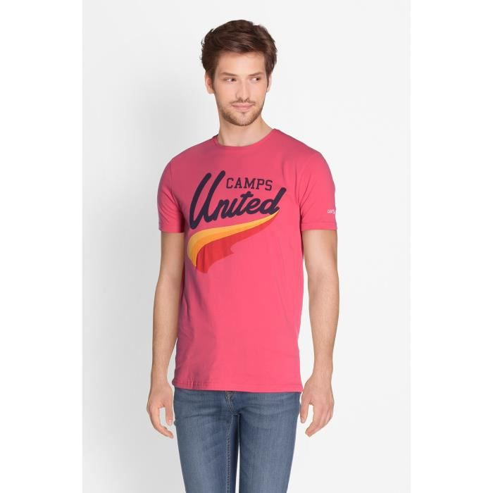 CAMPS T-shirt Manches Courtes - Homme - Rose