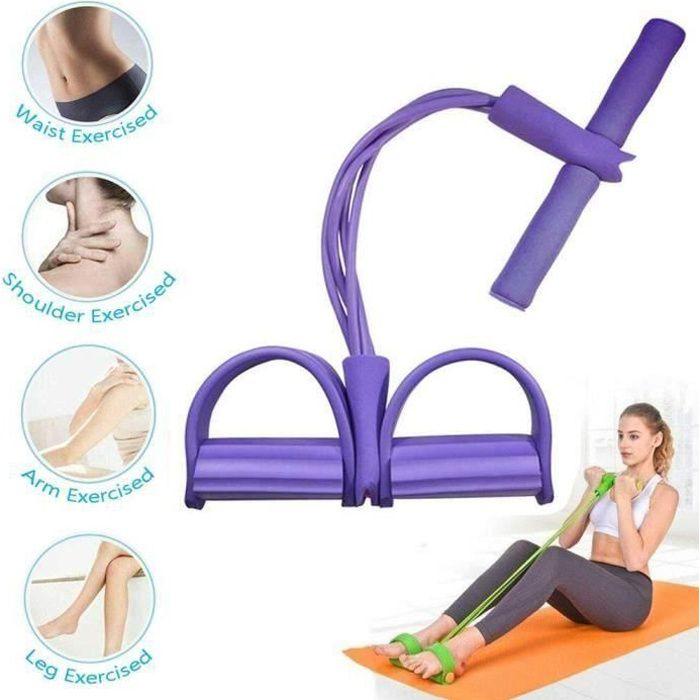 Bande de Résistance Fitness Multifonction pour Traction Elastique Sport Gymnastique - Violet