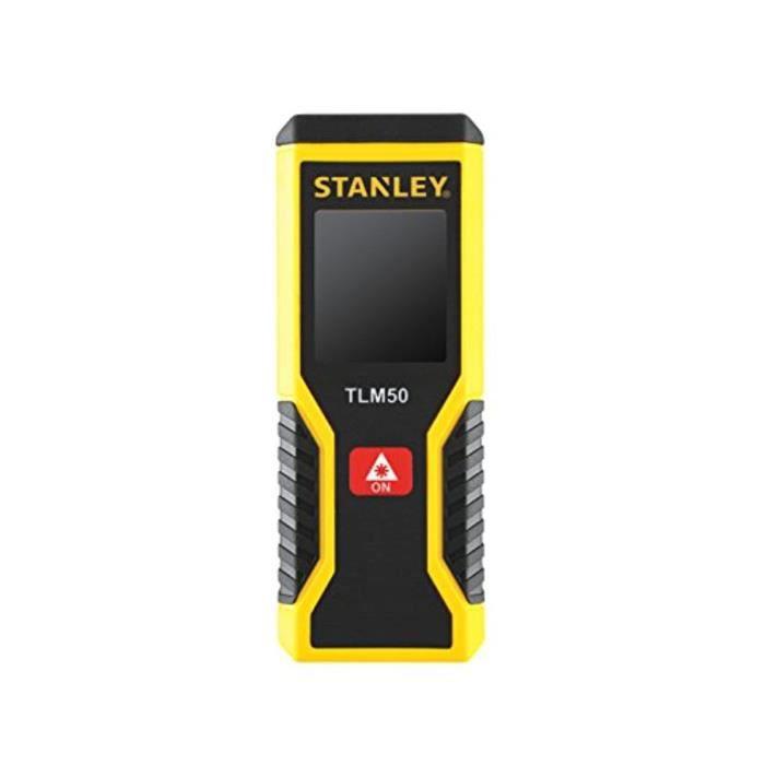 Stanley STHT1-77409 TLm50 Télémètre mESURE LASER - PORTÉE de 15m - PRÉCISION : +/-3mm - 2 FONCTIONS mesure Directes et en Continu -