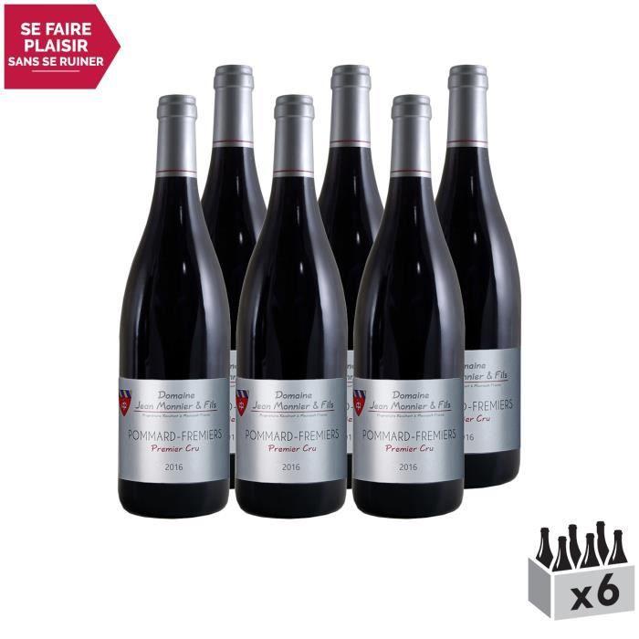 Pommard 1er Cru Les Fremiers Rouge 2017 - Lot de 6x75cl - Domaine Jean Monnier et Fils - Vin AOC Rouge de Bourgogne - Cépage Pinot