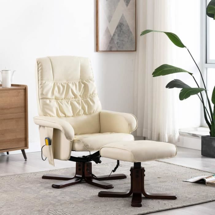 Fauteuil de massage inclinable électrique- chaise Relax Massant Relaxation 71 x 71 x 103 cm (l x P x H)- Style contemporain