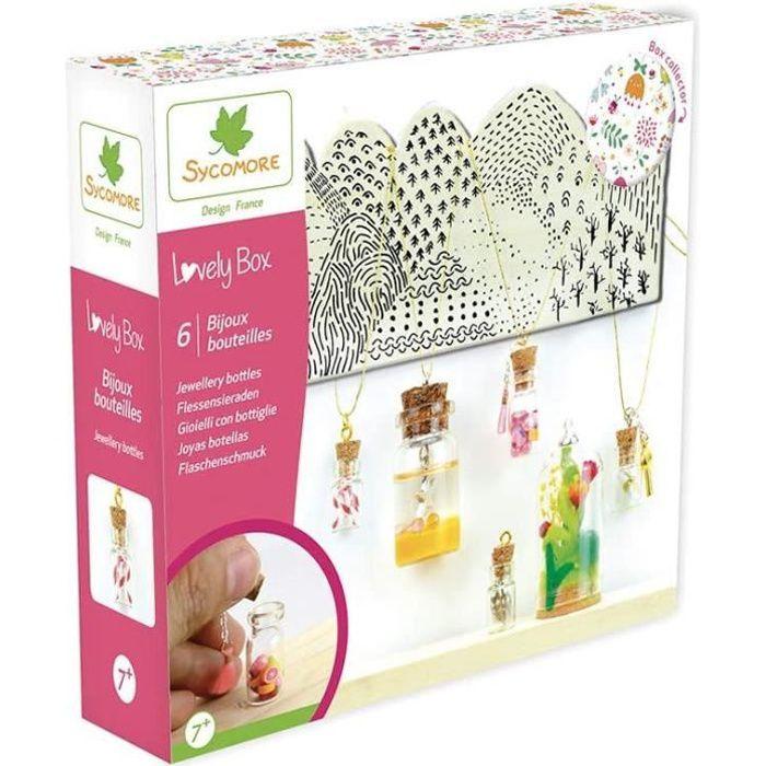 Loisirs Créatifs Kit de loisir créatif enfant - Bijoux bouteilles - 6 projets - DIY - Lovely Box Collector - Dès 7 ans - 643