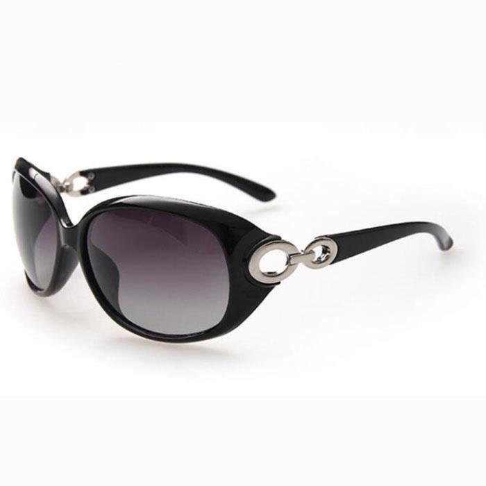 SHARPHY Lunettes de soleil Femme - Polarisées - Noir