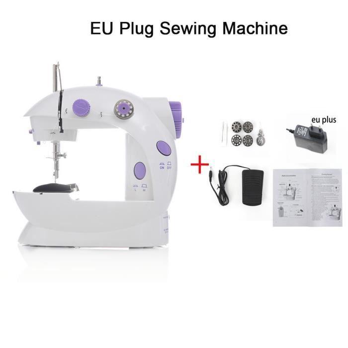 MACHINE A COUDRE,Machine à coudre coudre Costura Maquina De Costura Mini main a coudre Prensatelas maquina coser - EU PLUG