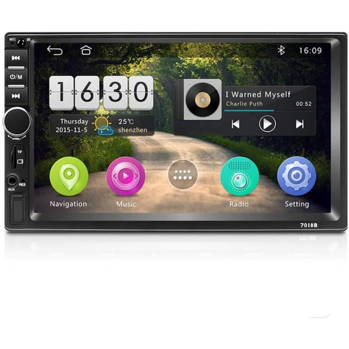 Récepteurs multimédia de voiture Autoradio Double Din Android 8.1 Audio embarquée Bluetooth 7- Écran Tactile HD Quad-Cor 10030
