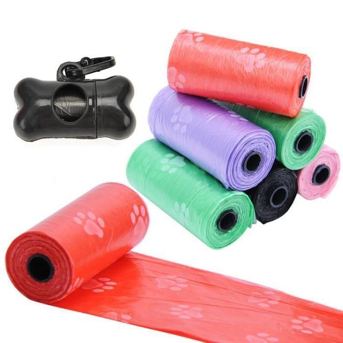 Ramasse crotte,Sacs de distributeur en forme d'os Kit de distributeur de sacs Poo pour chiens, sacs - Type 7 Bags 1 Dispenser