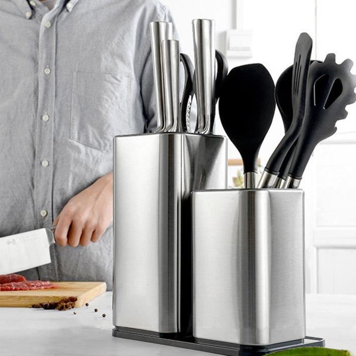 Support de bloc de couteau universel,contient 12 couteaux à lame de 8 pouces Bloc de couteau universel