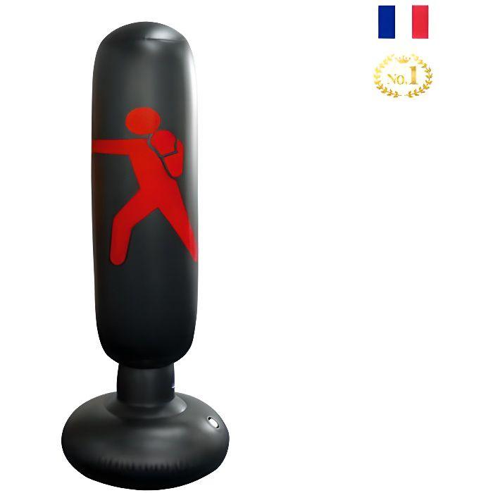 Fitness Sac de Frappe Autonome de Boxe Cible, Sac Gonflable de Poinçonnage Tour Sac Colonne de 1.6m Punching Ball