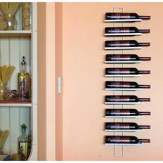 DanDiBo Casier à vin Dies White 116cm en métal pour 10 bouteilles Porte-bouteilles Etagère murale Porte-bouteilles