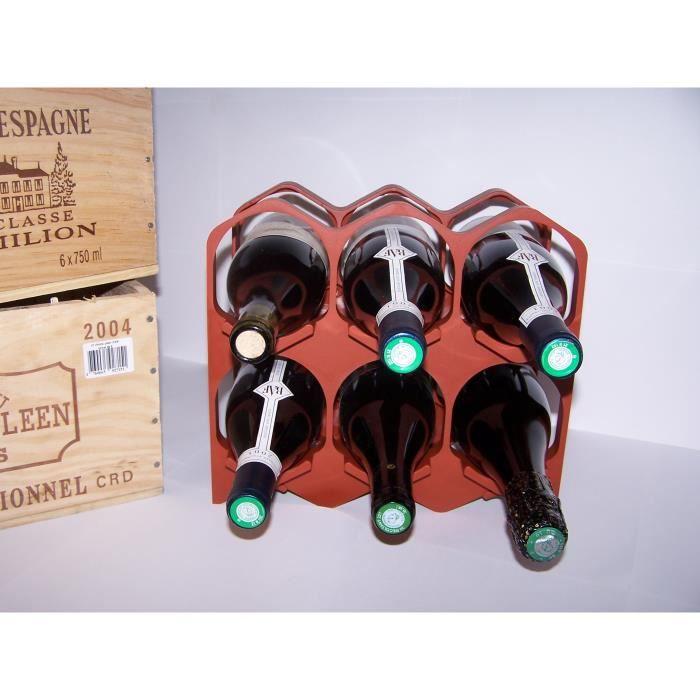 Casiers 6 bouteilles - Brique