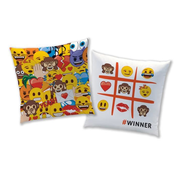 EMOJI EMOTIONS Coussin 40 x 40cm - Composition : 100% PolyesterCOUSSIN