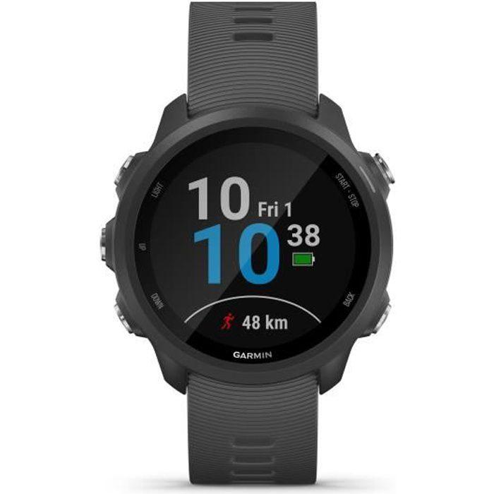 Garmin Forerunner 245 - Montre GPS connectée pour la course avec fonctions d'entraînement avancées - Gris