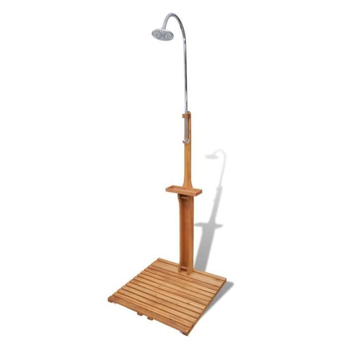 Douche de jardin-Douche solaire Douche exterieur en bois