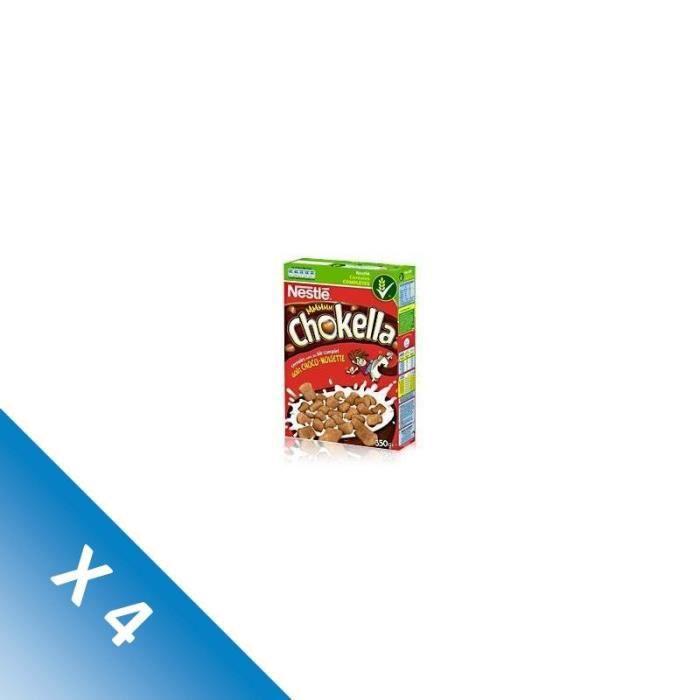 [LOT DE 4] CHOKELLA Céréales goût choco-noisette - 350 g
