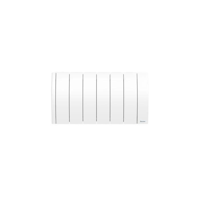 SAUTER Radiateur connecté à inertie Fluide Ipala - Bas - 700W - Blanc