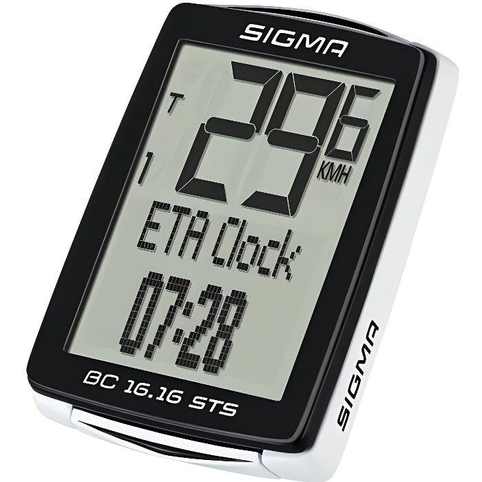 Sigma Ordinateur de vélo BC 16.16 STS Noir
