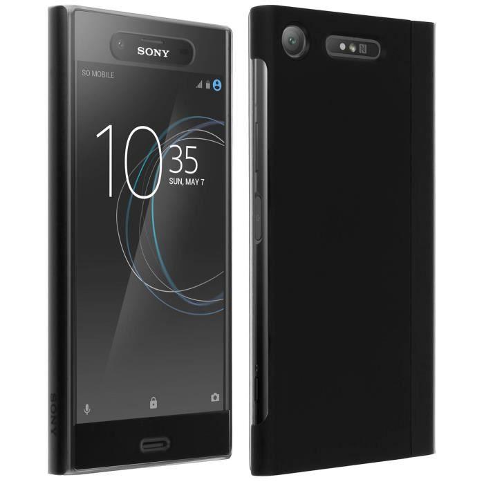 Etui Xperia XZ1 Housse folio Style Cover Touch d'origine Sony - Noir