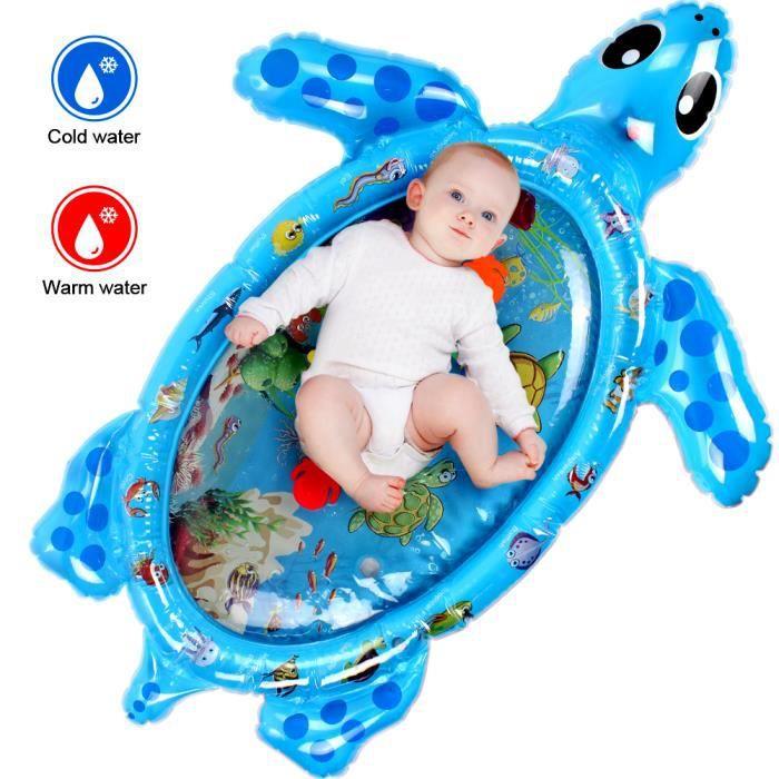 Stillcool® 120*80CM Tapis d'eau Matelas gonflable jouet enfant bébé éducatif forme tortue BLEU