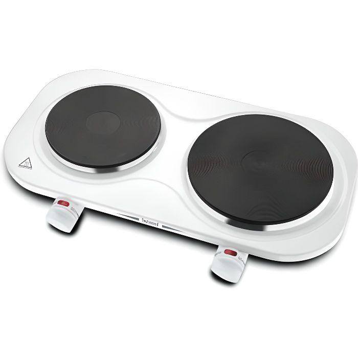 TECHWOOD TPE-204 Plaque de cuisson posable en fonte - Blanc