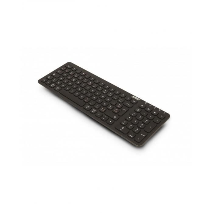 URBAN FACTORY Onlee - Clavier sans fil - 2.4 GHz, Bluetooth 5.1 - AZERTY - Français -Noir