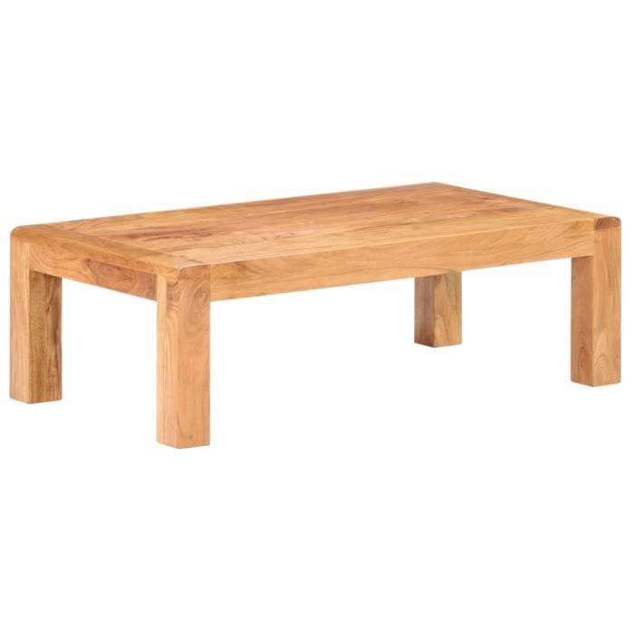 Table basse 110x60x35 cm Bois d'acacia massif WER1680