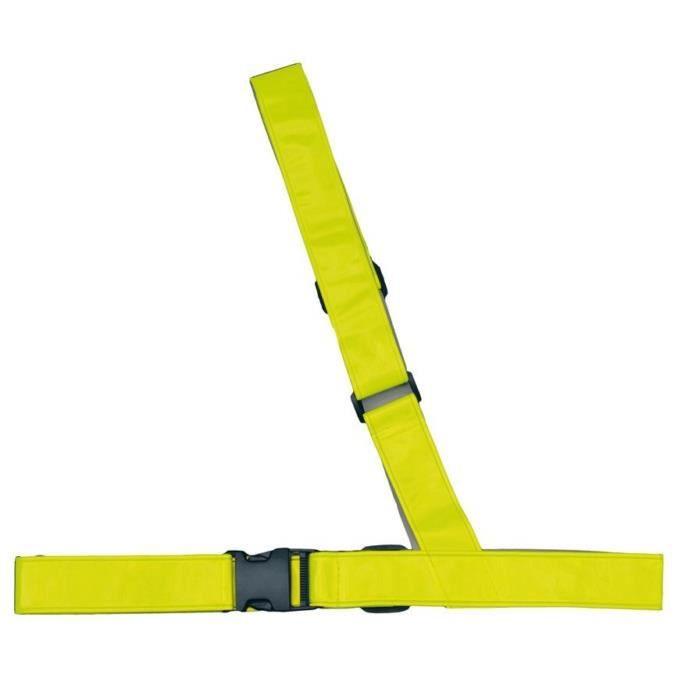Sangle d épaule de sécurité jaune fluo pour velo