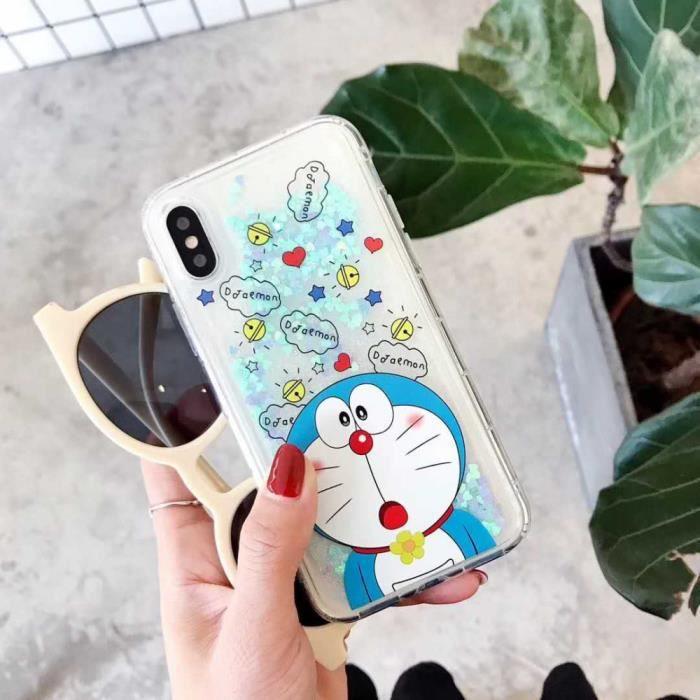 COQUE - BUMPER Coque, iPhone7, Magnifique 4 Dessin animé Doraemon