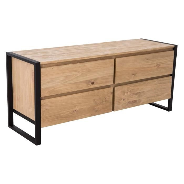 commode en bois 4 tiroirs trend achat vente commode. Black Bedroom Furniture Sets. Home Design Ideas