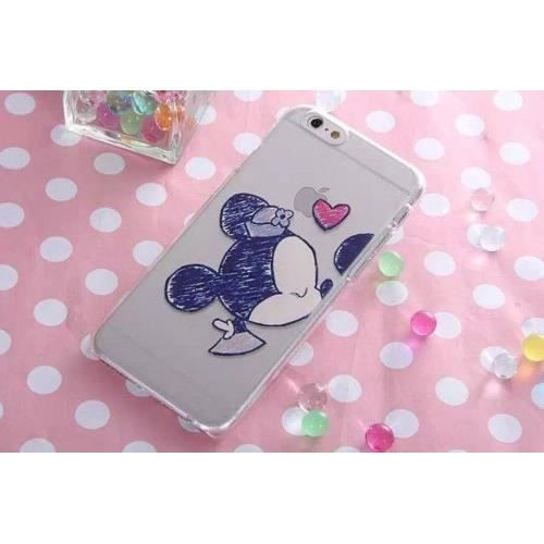 coque iphone 5c transparente disney mickey minnie kiss. Black Bedroom Furniture Sets. Home Design Ideas